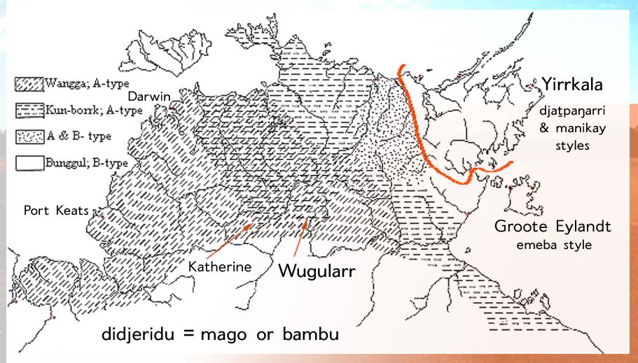 Alice Moyle's Didjeridu Map