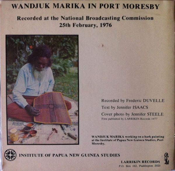 Wandjuk Marika Didjeridu Solo back