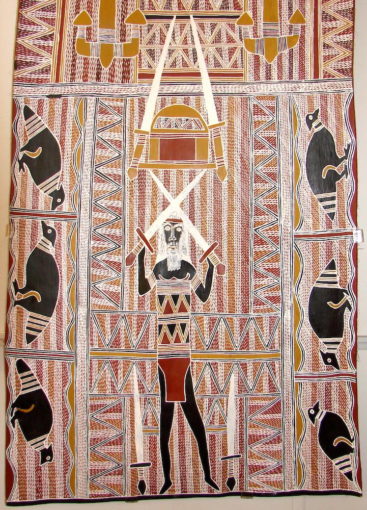 Gurrumuru on bark by Yumutjin Wunungmurra